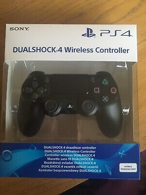 sony ps4 dualshock 4 wireless controller jet black brand new in box playstation