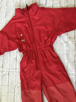 NEW Age 6 Helly Hansen Red Puddle Suit