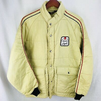 Vintage 1970s Michelob Light jackets Swingster MENS MEDIUM Coat Beer Advertising