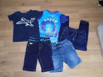 Boys ** Next , Ted Baker ** Jeans Shorts Tops Bundle X 5 Items Age 3-4Yrs