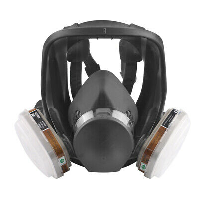 7 in 1 Full Face Chemical Spray Painting Respirator Vapour Gas Ventilator 6800