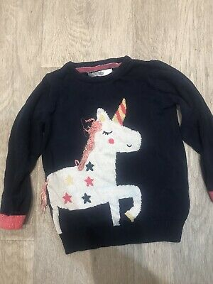 Marks And Spencer Unicorn Jumper Age 3-4