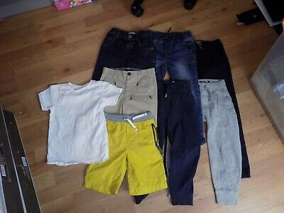 Boys ** Next , Mini Boden ** Jeans Shorts Top Bundle X 8 Items Age 4-5Yrs 110Cm