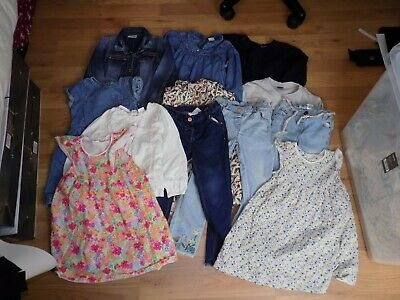 Girls * Next * Tops Jeans Jacket Dresses X 12 Items Bundle Age 4-5Yrs 110Cm
