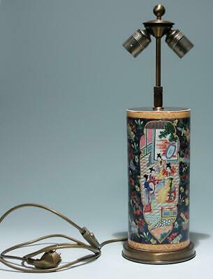 Chinese Bencharong Vase Desk Lamp - 20th Century