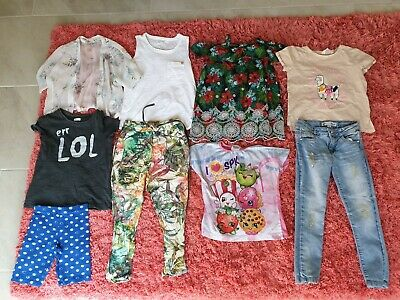 Girl's NEXT, H&M, TU, ZARA, George Summer Clothes Bundle Age 5 - 6 Years