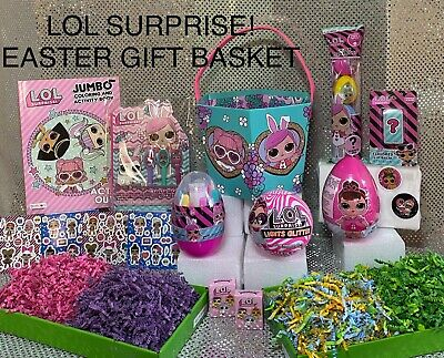 Lol Surprise Doll Themed 🐰 Easter Gift Basket Set 🎁 In Hand - Ready To Ship