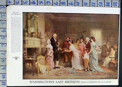 1918 President George Washington Birthday Ferris Vintage Paint Print  Ci58