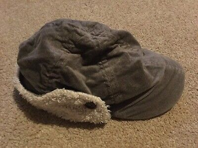 Child's Grey Hat (with Flaps to Cover Ears) - Age 2-4 years