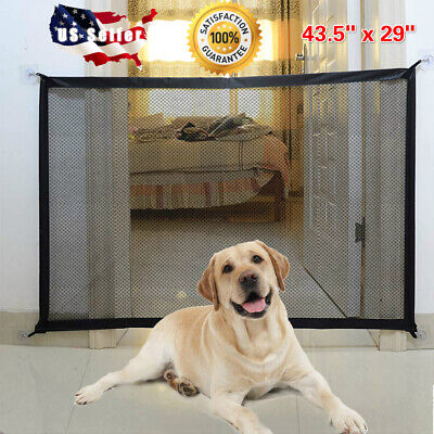 Pet Dog Gate Portable Safety Guard Folding Baby Toddler Stair Gate Isolation