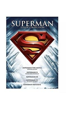 Superman 5 Film Collection DVD SET BRAND NEW FACTORY SEALED