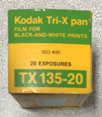 Vintage 1986 Kodak Tri-X Pan 35mm Film Roll TX 135 20 Exposures ISO 400 SEALED