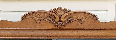 Salvage Parts Repair Antique Oak Wardrobe Parts Top Crown Pediment