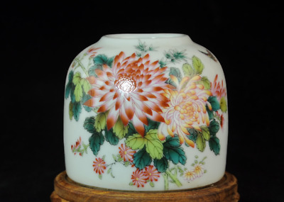 china old famille-rose porcelain hand-made chrysanthemum Brush Washers Cb01E