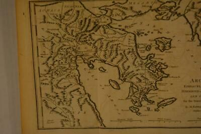 Antique Map of Argolis Ancient Greece 1795 Copper Plate Engraving 12x8 Inches