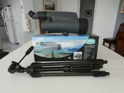 Yukon 100X Zoom Spotting Scope with 100mm Lens and Tripod