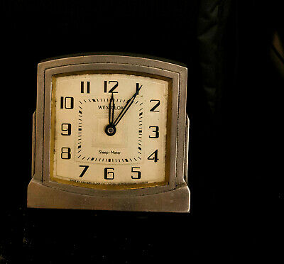 "VINTAGE WESTCLOCK  ""SLEEP METER' CLOCK- Winds & Works for  about  5 Hrs"