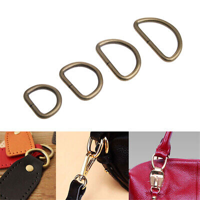10pcs D Rings Lot Metal Webbing Buckle For Backpack Bag Strapping DIY Sewing