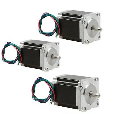 【Promotion&Free Ship】Nema 23 Stepper Motor 4A 270 oz-in 76mm 8mm Flat Shaft CNC