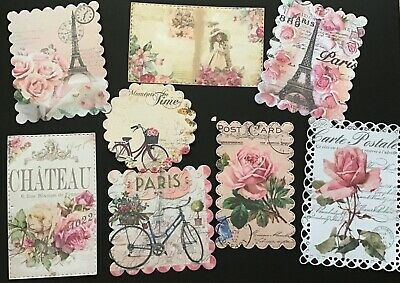 Shabby Chic Bulk Card Toppers/Scrapbooking Embellishments
