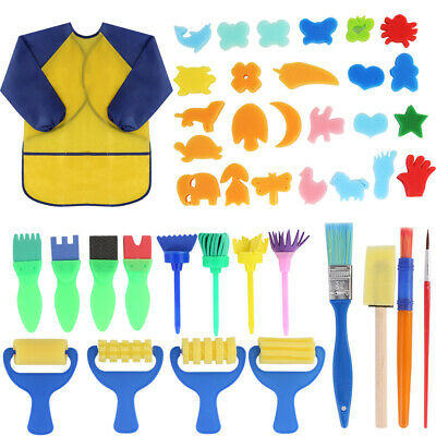 42pcs Kids Paint Brushes Sponge Painting Brush Tool Set for Children Toddlers