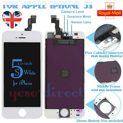 For iPhone 5S SE LCD Touch Screen Replacement Display Digitizer Assembly White