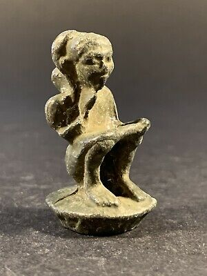 Ancient Roman Bronze Statuette Depicting Senatorial Scribe - Circa 100-200Ad