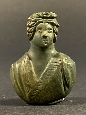 Museum Quality Ancient Roman Bronze Bust Ornament Applique - Circa 100-400 Ad
