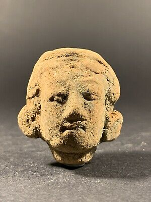 Scarce Ancient Roman Terracotta Statue Fragment Head Of Diana - Circa 200-300Ad