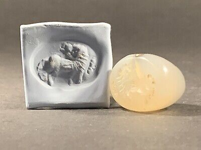 Stunning Ancient Bactrian Rock Crystal Zoomorphic Bead Seal - Circa. 100-50 Bce