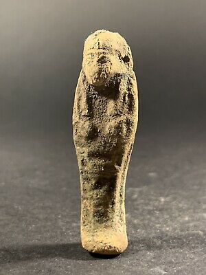 Scarce Ancient Egyptian Shabti Ushabti Showing Hieroglyphics - Circa. 900-600Bce