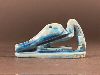 Ancient Egyptian Glazed Faience Ibis Nile Bird Statuette - Circa 770-332Bce