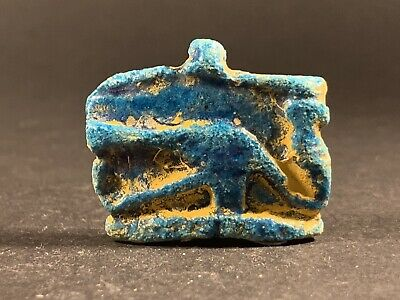 Beautiful Ancient Egyptian Eye Of Horus Amulet With Colour - Circa 900-700Bce
