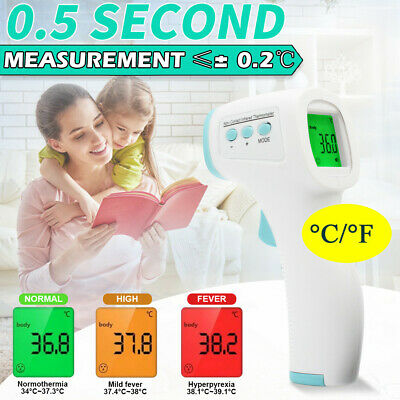 Non-touch Digital Laser Infrared IR Forehead Thermometer Temperature Gun contact