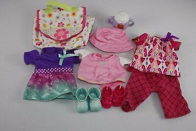 Fisher Price Little Mommy Clothes  Bottle  Diaper, Clothes, Shoes Lot