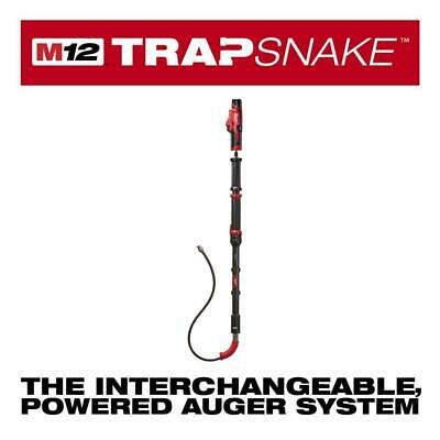 Lithium Ion M12 Trap Snake 12 Volt Cordless 6 Ft Toilet Auger Drain Cleaning Kit