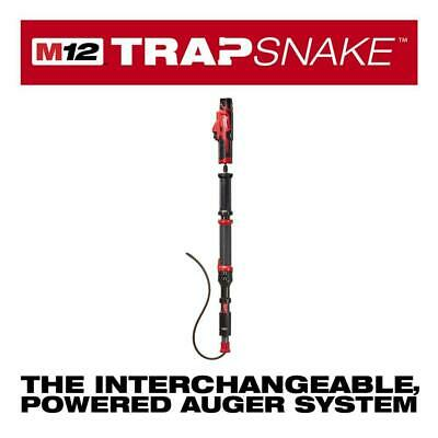 Lithium Ion M12 Trap Snake 12 Volt Cordless 4 Ft Urinal Auger Drain Cleaning Kit