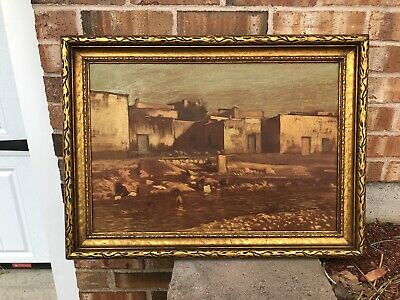 Antique Pueblo New Mexico Oil PAINTIN