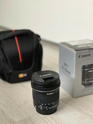 Canon EF-S 10-18mm F/4.5-5.6 IS STM Lens (9519B002) - Camera Bag Included