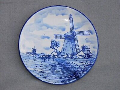 Assiette En Faience Eleska Holland A Decor De Moulin Diam 20 Cm 11M14