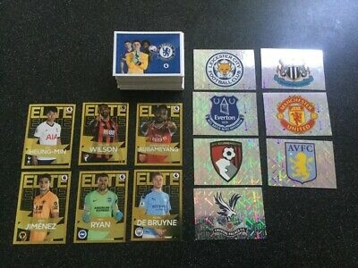 Panini Premier League Football 2020 Stickers - 158 in total all different