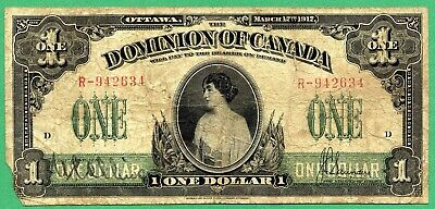 1917 Dominion of Canada 1 dollar  One dollars Canadian