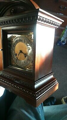 Antique  bracket clock c1900 8 day  gong strike