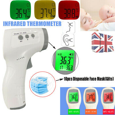 IR Infrared LED Digital Forehead Fever Thermometer Non-Contact Baby&Adult Body