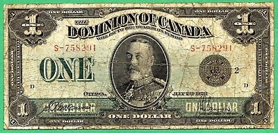 1923 Dominion of Canada 1 dollar  One dollars Canadian
