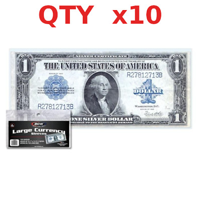 10 BCW Currency Sleeves for Large Bill