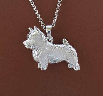 Large Sterling Silver Norwich Terrier Standing Study Pendant