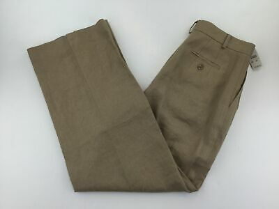 Talbots Womens Pants Size 4 Beige Trousers Slacks 100% Irish Linen NWD B34-04