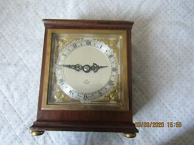 Mahogany Elliott Mantle Clock in excellent condition and GWO