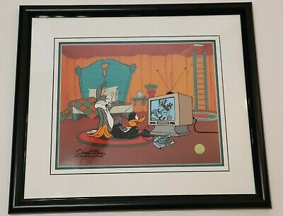 "Looney Tunes Bugs Limited Edition Animation Cel by Chuck Jones ""JUST FUR LAUGHS"""